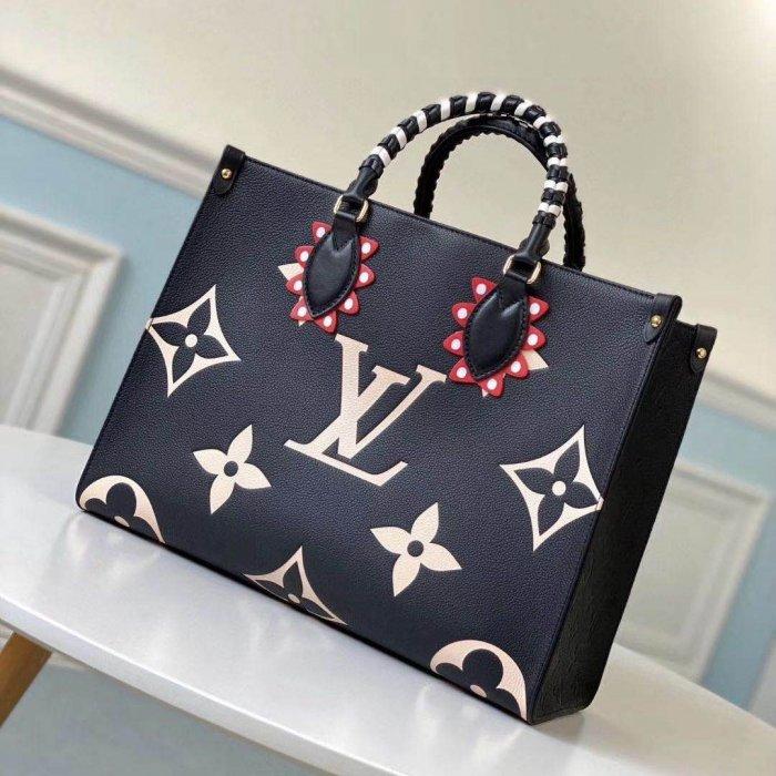 LV OnTheGo中号手袋,现代女士出门必备时尚包袋
